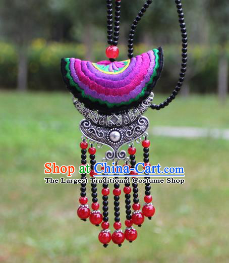 Chinese Traditional Accessories Yunnan Minority Embroidered Necklace for Women