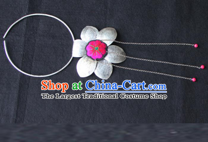 Chinese Traditional Accessories Yunnan Minority Sliver Necklace for Women