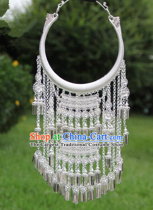 Chinese Traditional Miao Minority Tassel Necklace Ethnic Accessories for Women