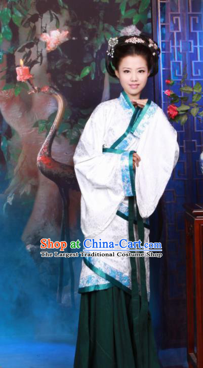 Chinese Traditional Han Dynasty Imperial Consort Historical Costumes Ancient Peri Hanfu Dress for Women
