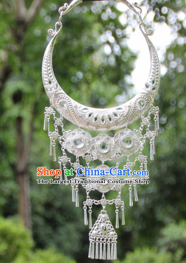 Chinese Traditional National Jewelry Accessories Ethnic White Necklace for Women
