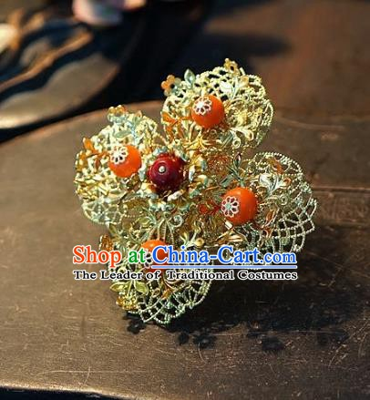 Chinese Handmade Classical Frontlet Hairpins Hair Clip Hair Accessories Ancient Bride Headwear for Women