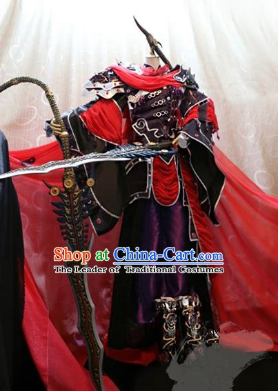Ancient China Cosplay Asmodians Prince Costumes Swordsman Clothing for Men