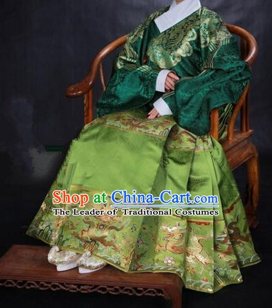 Ancient Chinese Ming Dynasty Imperial Empress Embroidered Costume for Women