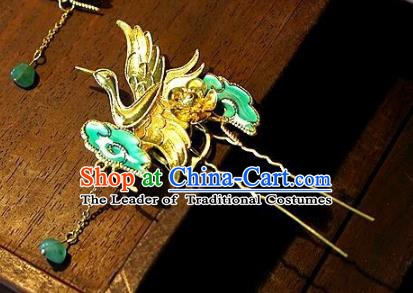 Chinese Handmade Classical Hair Accessories Ancient Crane Hairpins Hair Clip for Women