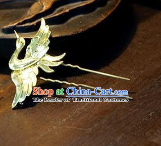 Chinese Handmade Classical Hair Accessories Ancient Bride Crane Hairpins for Women