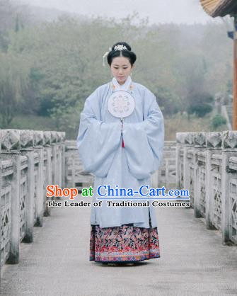 China Ancient  Ming Dynasty Nobility Lady Dress Clothing Long Cape for Women