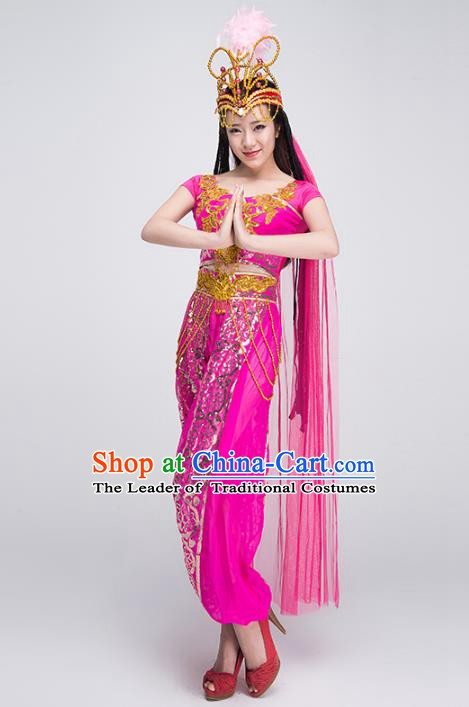 Traditional India Dance Costume, Asian Indian Belly Dance Clothing for Women