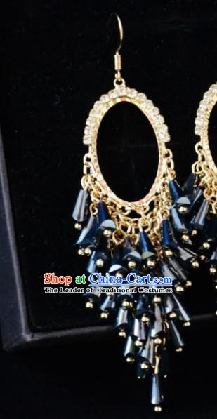 European Western Bride Vintage Jewelry Accessories Eardrop Renaissance Gothic Earrings for Women