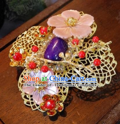 Chinese Handmade Classical Hairpins Ancient Hanfu Hair Claw Headdress Hair Accessories for Women