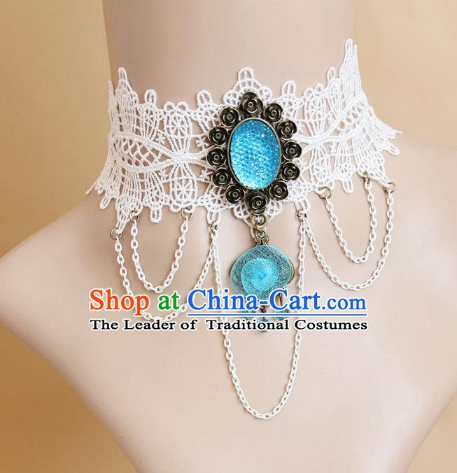 European Western Vintage Jewelry Accessories Renaissance Bride Bohemia Lace Necklace for Women