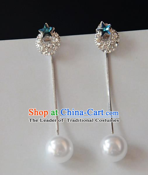 European Western Bride Vintage Accessories Eardrop Renaissance Crystal Earrings for Women