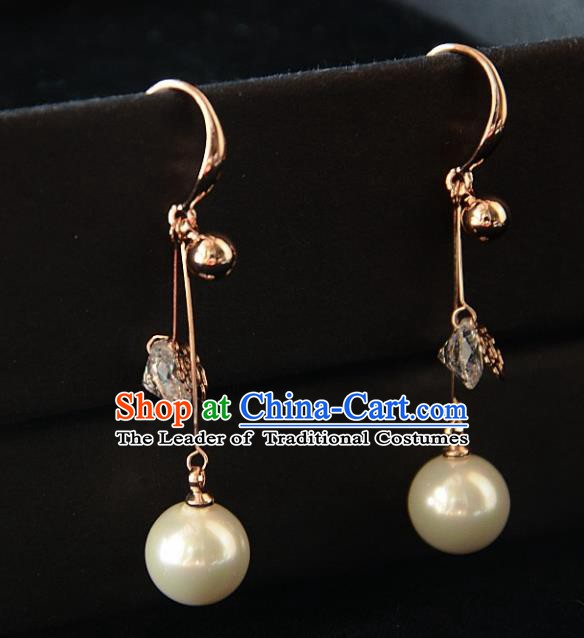 European Western Bride Vintage Accessories Pearl Eardrop Renaissance Earrings for Women