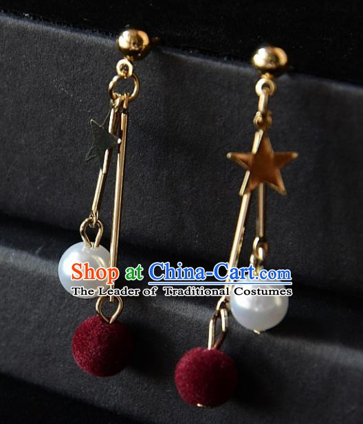 European Western Bride Vintage Accessories Eardrop Renaissance Earrings for Women