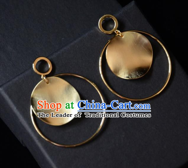 European Western Bride Vintage Accessories Golden Baroque Eardrop Renaissance Earrings for Women