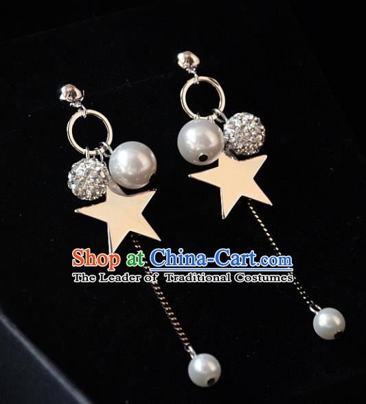 European Western Bride Vintage Accessories Eardrop Renaissance Star Earrings for Women