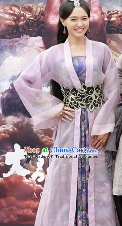 China Ancient Princess Embroidered Costume A Chinese Odyssey Faery Dress for Women