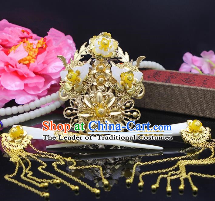 Handmade Chinese Ancient Palace Lady Hair Accessories Hairpins for Women