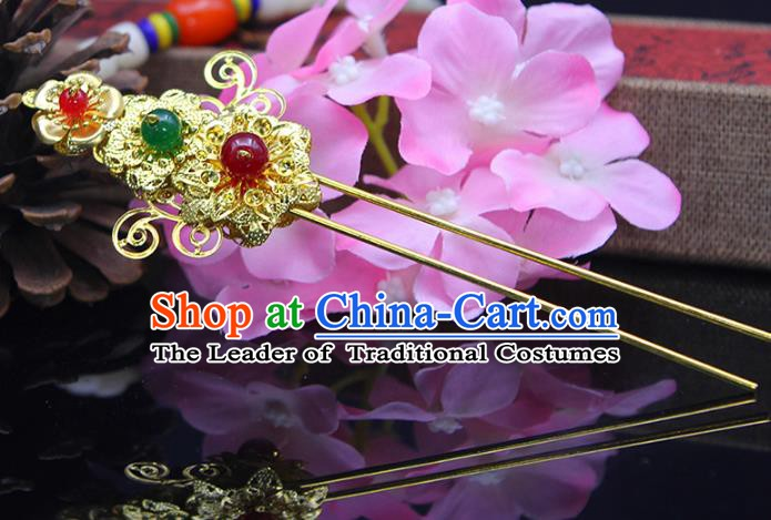 Handmade Chinese Ancient Palace Lady Hair Accessories Hanfu Hairpins for Women