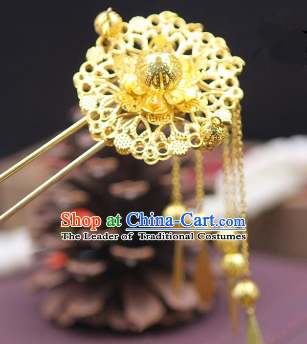 Handmade Chinese Ancient Palace Lady Hair Accessories Hanfu Tassel Hair Clip Hairpins for Women