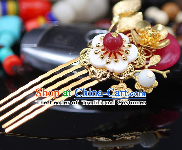Handmade Chinese Ancient Palace Lady Hair Accessories Hanfu Hair Comb Hairpins for Women