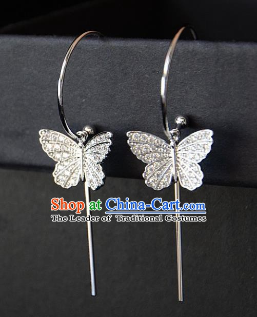 European Western Bride Vintage Butterfly Eardrop Accessories Renaissance Earrings for Women