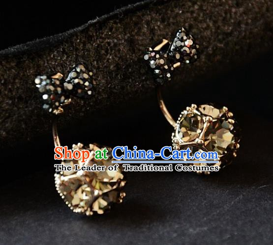 European Western Bride Vintage Accessories Renaissance Bohemia Bowknot Earrings for Women