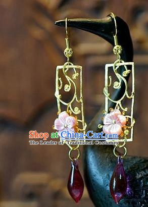 Asian Chinese Traditional Handmade Jewelry Accessories Colored Glaze Earrings for Women