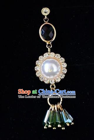 European Western Bride Accessories Renaissance Vintage Pearl Earrings for Women