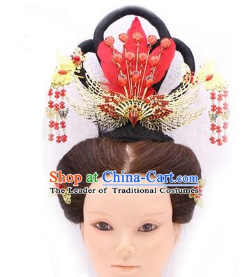 Handmade Asian Chinese Ancient Fairy Hair Accessories Wig and Hairpins for Kids