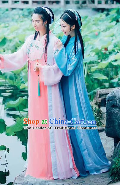Traditional Chinese Song Dynasty Royal Princess Embroidered Costume Complete Set for Women