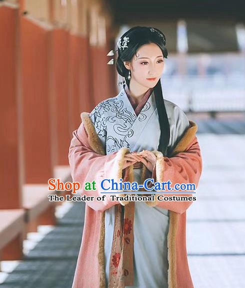 Traditional Chinese Three Kingdoms Period Young Lady Costume, China Ancient Palace Hanfu Clothing for Women