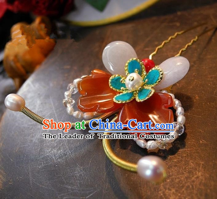 Chinese Handmade Classical Hair Accessories Butterfly Hairpins Ancient Wedding Hair Clip Headdress for Women