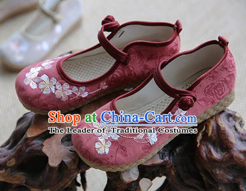 Traditional Chinese Red Shoes Wushu Shoes Hanfu Shoes Embroidered Shoes
