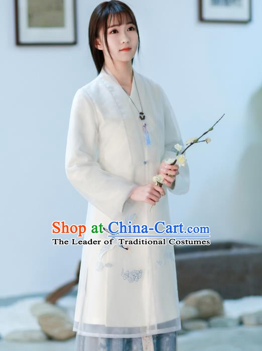 Traditional Chinese National Costume Embroidered Cheongsam Tangsuit Qipao Dress for Women