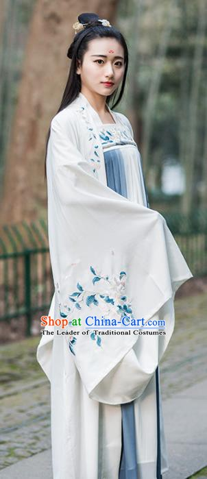 Traditional Ancient Chinese Young Women Cheongsam Dress Tangsuit Stand Collar Blouse Dress Tang Suit Clothing