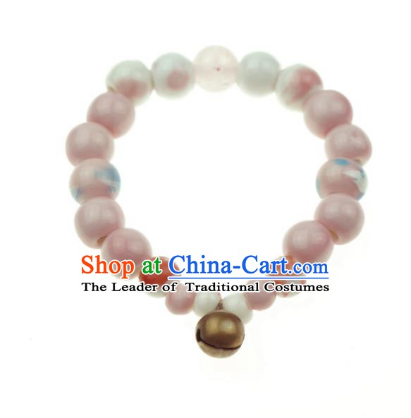 Traditional Chinese Bracelet Accessories Ceramics Beads Bangle for Women
