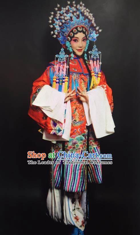 Traditional Chinese Beijing Opera Actress Costume Peking Opera Imperial Concubine Embroidered Clothing for Women