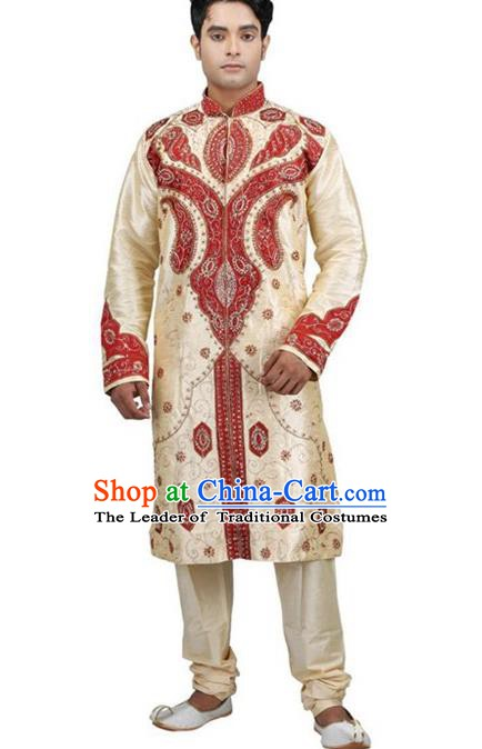 Traditional Asian India Stage Performance Costume Hindustan Indian National Clothing for Men