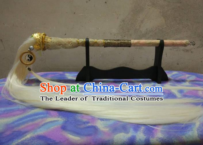 Traditional China Ancient Cosplay Taoist Priest Horsetail Whisk