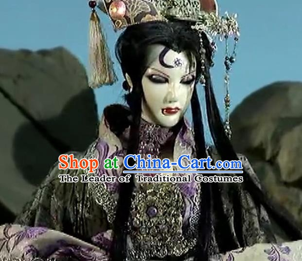 Traditional China Ancient Cosplay Hair Accessories Swordsman Wig and Headwear for Men