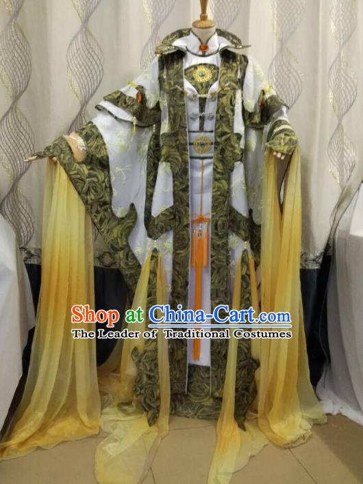 China Ancient Cosplay Swordsman Costume Knight Fancy Dress Traditional Hanfu Clothing for Men