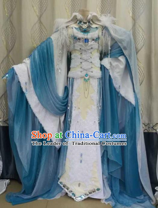 China Ancient Cosplay Costume Palace Princess Fairy Fancy Dress Traditional Hanfu Clothing for Women