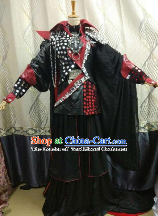 Traditional China Ancient Cosplay General Costume Halloween Swordsman Clothing for Men