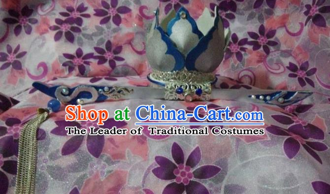 Traditional China Ancient Cosplay Nobility Childe Hair Accessories Hairdo Crown for Men