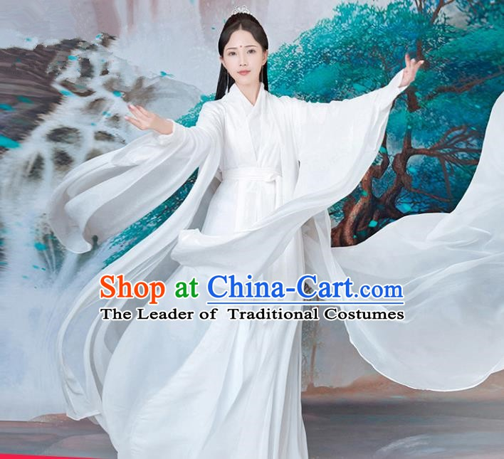 China Traditional Song Dynasty Palace Princess Costume Ancient Fairy Dress for Women
