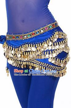 Traditional Asian Indian Belly Dance Waist Accessories Royalblue Waistband India National Dance Belts for Women