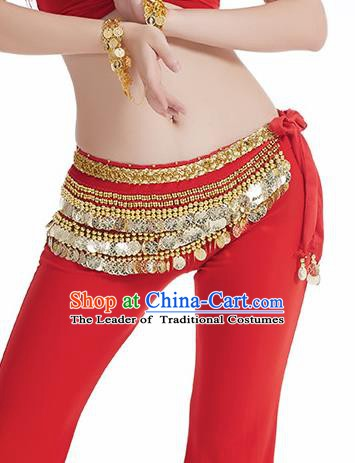Red Waistband Asian Indian Belly Dance Waist Accessories India National Dance Belts for Women