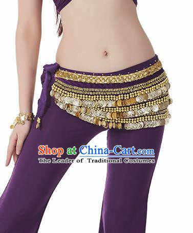 Purple Waistband Asian Indian Belly Dance Waist Accessories India National Dance Belts for Women