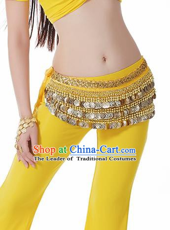 Yellow Waistband Asian Indian Belly Dance Waist Accessories India National Dance Belts for Women